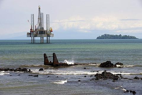 Oil drilling platform, Limbe, Cameroon, Africa