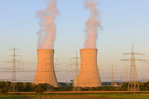 Grafenrheinfeld Nuclear Power Plant, near Schweinfurt, Lower Franconia, Bavaria, Germany, Europe