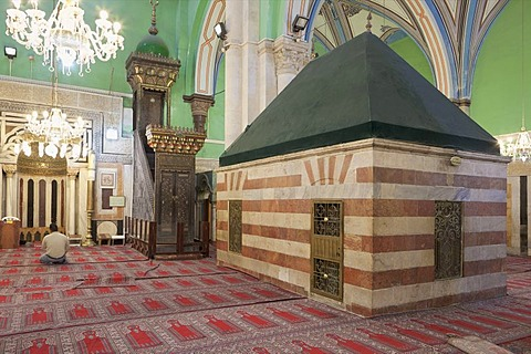 The Machpela, the shrine that marks the burial place of Rebecca, Isaac's wife, Hebron, West Bank, Palestine, Western Asia