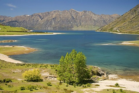 Lake Hawea and the mountains of western Otago, South Island, New Zealand