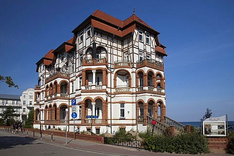 Hotel Schloss am Meer, Baltic resort Kuehlungsborn, Mecklenburg-Western Pomerania, Germany, Europe, PublicGround