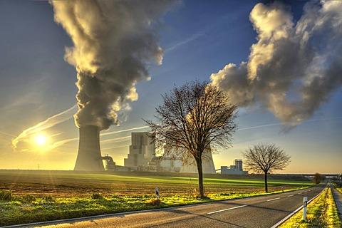 Neurath brown coal power station, Grevenbroich, North Rhine-Westphalia, Germany, Europe