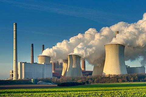 Braunkohlekraftwerk Neurath, lignite-fired power plant, Grevenbroich, North Rhine-Westphalia, Germany, Europe