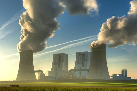 BOA Braunkohlekraftwerk Neurath, lignite-fired power plant, Grevenbroich, North Rhine-Westphalia, Germany, Europe