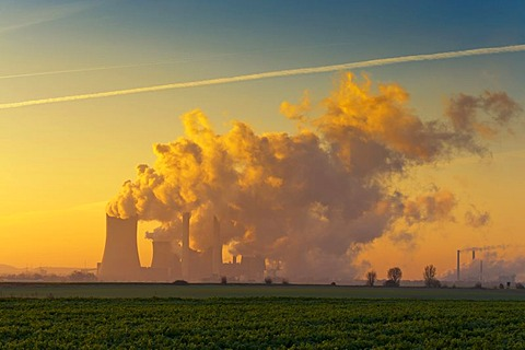 BOA Braunkohlekraftwerk Niederaussem, lignite-fired power plant, North Rhine-Westphalia, Germany, Europe