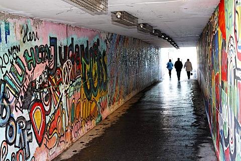 Graffiti in an underpass in Leoben, Styria, Austria, Europe