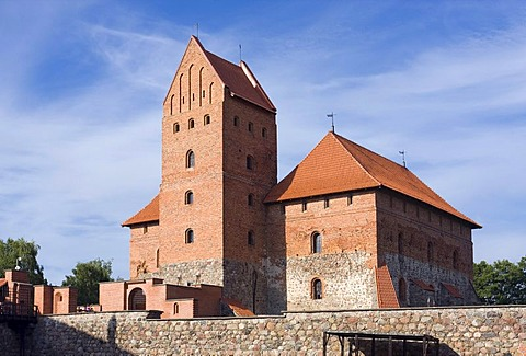 Trakai Island Castle, Trakai Historical National Park, Lithuania, Europe