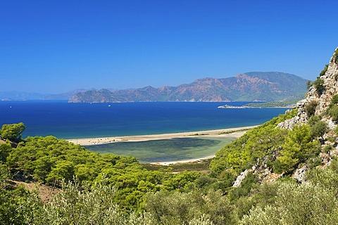 Turtle beach at Dalyan, Turkish Aegean Coast, Turkey