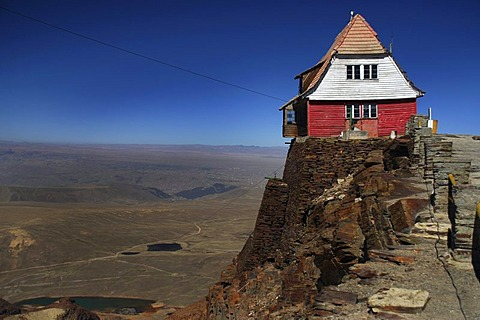 Mountain shelter at 5300m altitude, Andes mountain range, Chacaltaya, La Paz, Bolivia, South America