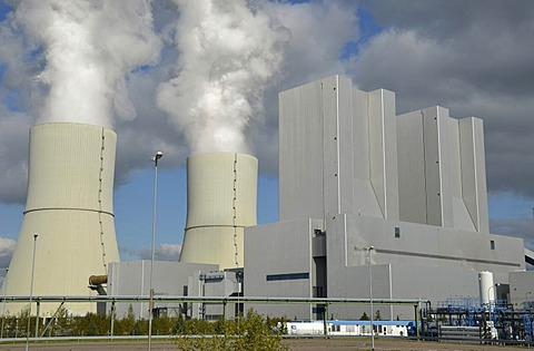 Lignite-fired power station at Lippendorf, Saxony, Germany, Europe