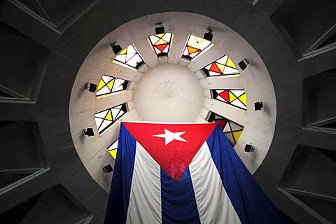 Dome with the national flag, Coppelia ice cream parlour, Parque Coppelia, La Rampa, city centre of Havana, Habana Vedado, Cuba, Greater Antilles, Caribbean, Central America, America