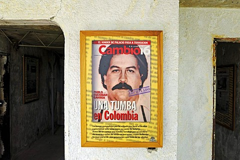 Museum and memorial at the Hacienda Napoles, former estate of drug baron Pablo Escobar, head of the Medellin Cartel, Puerto Triunfo, Antioquia, Colombia, South America