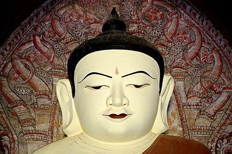 Buddha statue, Old Bagan, Pagan, Burma, Myanmar, Asia