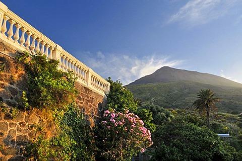 Mt Stromboli volcano, Stromboli Island, Aeolian Islands or Lipari Islands, Sicily, Southern Italy, Italy, Europe