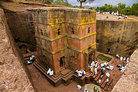 Bet Giyorgis Rock-Hewn Church, Lalibela, Ethiopia, Africa
