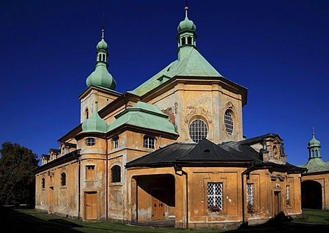 Baroque parish and pilgrimage church of the Visitation, place of pilgrimage, Horni Police, &eska Lipa District, North Bohemia, Bohemia, Czech Republic, Europe