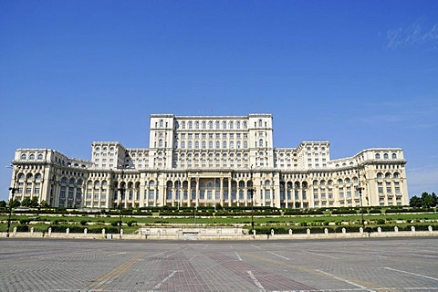Palace of the Parliament, Bucharest, Romania, Eastern Europe, Europe, PublicGround - 832-58914