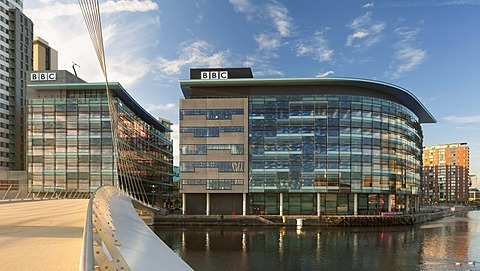 BBC Manchester at the MediaCityUK development, Salford Quays, Salford, Manchester, England, United Kingdom, Europe