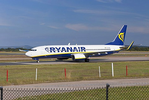 Ryanair aircraft at Manchester Airport, England, United Kingdom, Europe