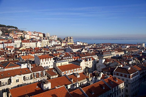 Overlooking Alfama, Lisbon, Portugal, Europe