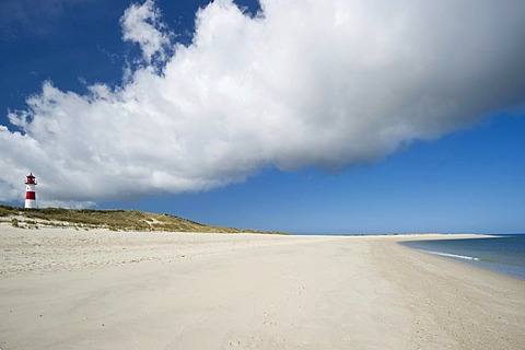 Lighthouse List-Ost, List, Sylt island, Schleswig-Holstein, Germany, Europe