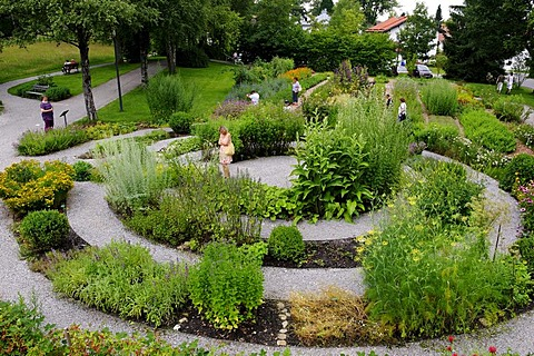 Herbal garden, Bad Heilbrunn, Upper Bavaria, Bavaria, Germany, Europe