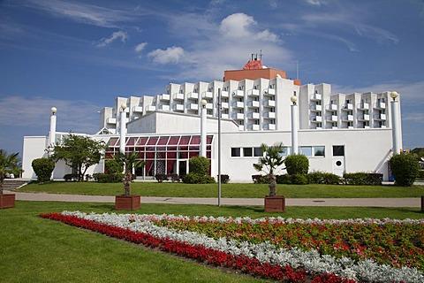 Amber Baltic Hotel, seaside resort of Mi&dzyzdroje or Misdroy, Wolin Island, Baltic Sea, Western Pomerania, Poland, Europe, PublicGround