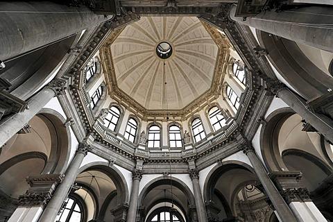 Interior view of the Chiesa Santa Maria della Salute church, Venice, Veneto, Italy, Europe