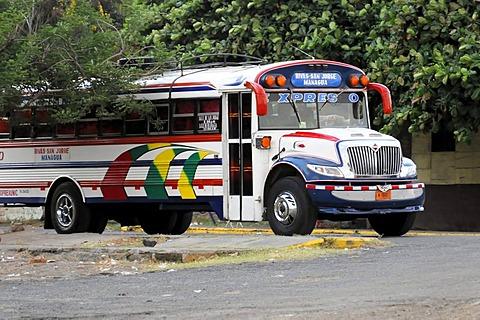 Express bus from Rivas-Managua, near Rivas, Nicaragua, Central America