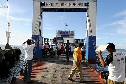 Ometepe No. 1, ferry to Ometepe, San Jorge Rivas, Nicaragua, Central America
