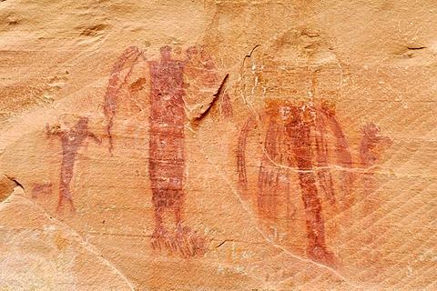 Native American Indian rock art, Buckhorn Draw Petroglyphs, San Rafael Swell, Utah, USA, North America