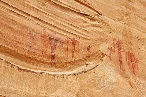 Native American, Indian rock art at Buckhorn Draw Petroglyphs, San Rafael Swell, Utah, USA, North America