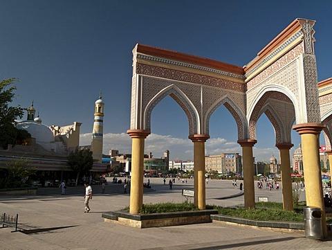 Oasis Kashgar, the capital of Uigur culture, Xinjiang, China, Asia