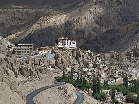 Lamayuru Gompa, one of the most important monasteries in the former kingdom of Ladakh, Lamayuru, Jammu and Kashmir, India, Asia