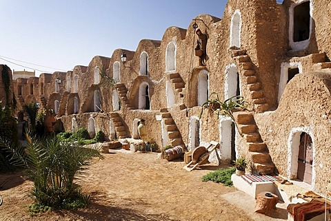 Ksar Berber village with ghofas, storerooms, open-air museum in Medenine, Tunisia, Maghreb region, North Africa, Africa