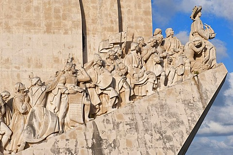 Padrao dos Descobrimentos, Monument to the Discoveries, celebrating Henri the Navigator and the Portuguese Age of Discovery and Exploration, Belem district, Lisbon, Portugal, Europe