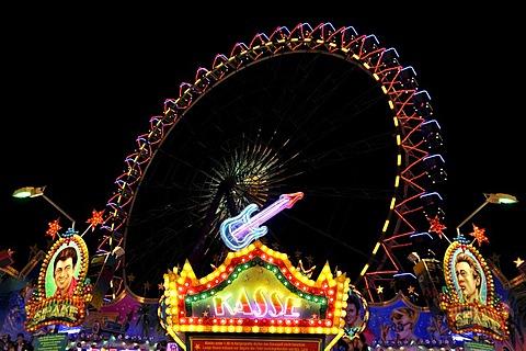 Ferris wheel, Cannstatter Volksfest, Wasen, Stuttgart Beer Festival, Bad Cannstatt, Stuttgart, Baden-Wuerttemberg, Germany, Europe, PublicGround