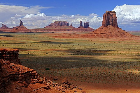 Looking through the North Window rock formation towards the Buttes of Monument Valley, Arizona, USA