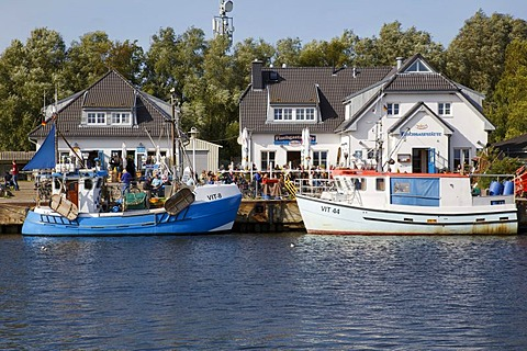 Vitte Harbour, Hiddensee, Mecklenburg-Vorpommern, Germany, Europe