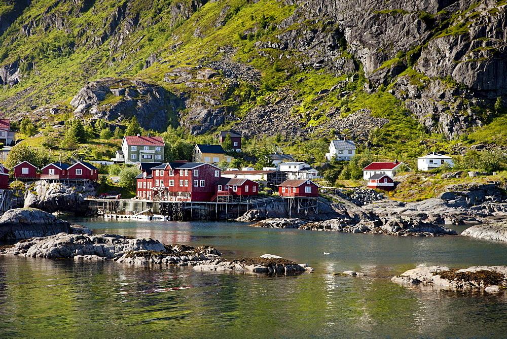 Town of ≈, Moskenesoy, Lofoten Islands, North Norway, Norway, Scandinavia, Europe