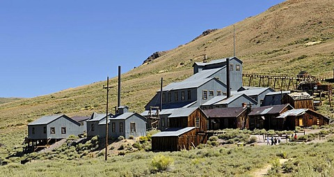 Standard Stamp Mill, mine and mine buildings, mine, ghost town of Bodie, a former gold mining town, Bodie State Historic Park, California, United States of America, USA