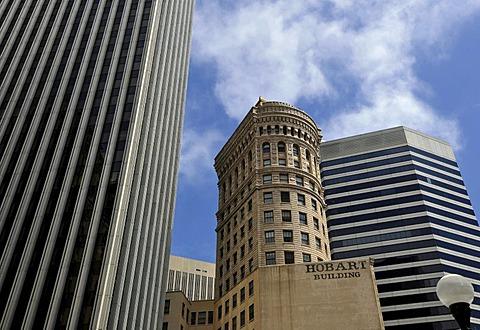 Hobart Building, skyscrapers, 595 Market Street, 44 Montgomery Building, San Francisco, California, United States of America, USA, PublicGround