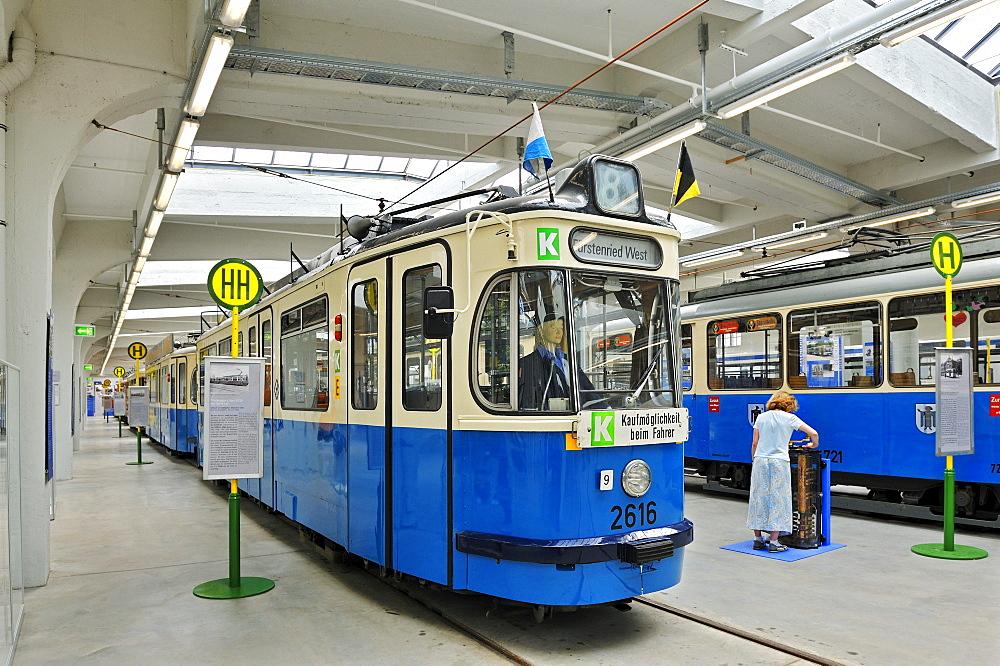 Old tram, MVG-Museum, Muenchner Verkehrsgesellschaft, MVG, Munich Public Transportation Company, Munich, Bavaria, Germany, Europe