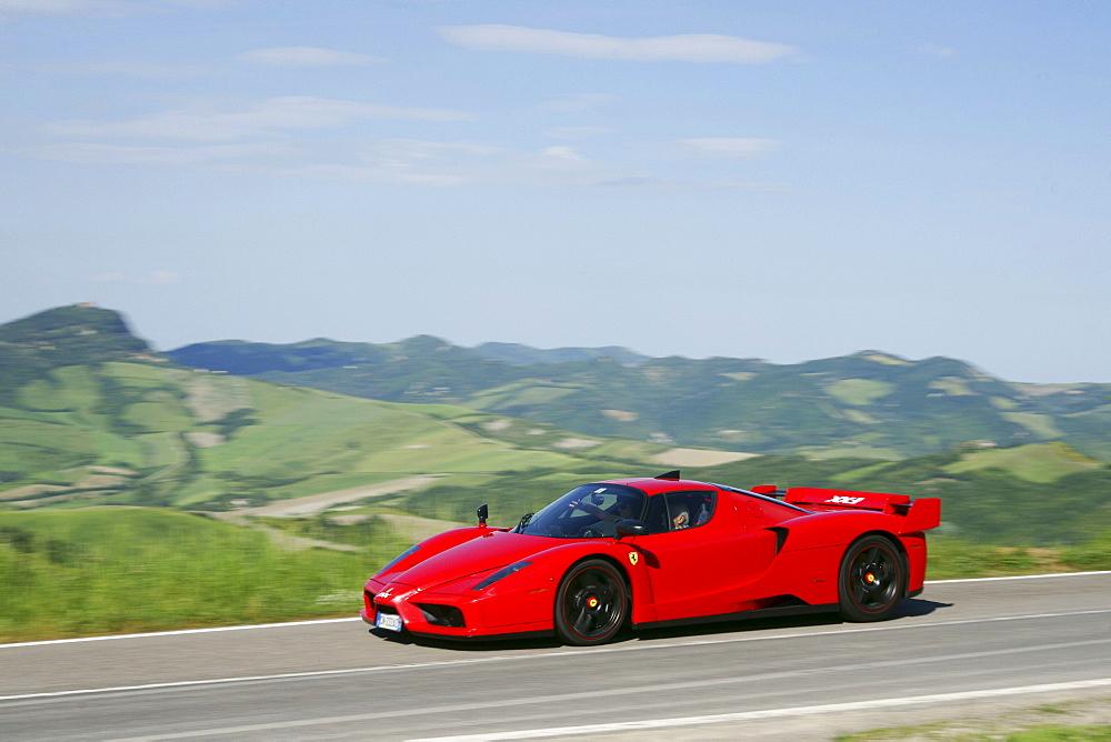 Ferrari Tribute, Ferrari Club, car rally, Mille Miglia, 1000 Miglia, Loiano, Pianoro, Bologna, Italy, Europe