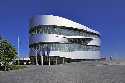 Mercedes-Benz Museum, Stuttgart, Baden-Wuerttemberg, Germany, Europe
