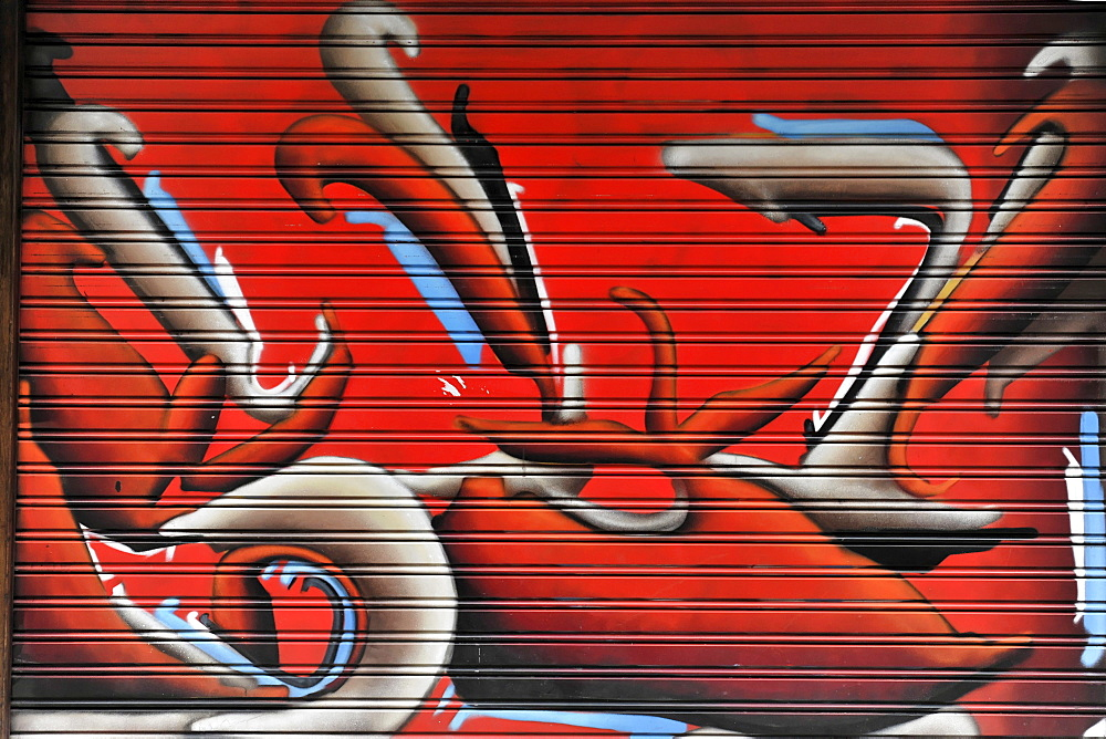 Graffiti, Gran Via, Madrid, Spain, Europe