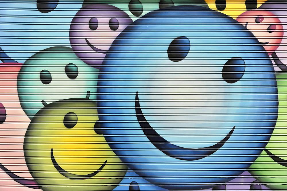 Smileys, Graffiti, Madrid, Spain, Europe