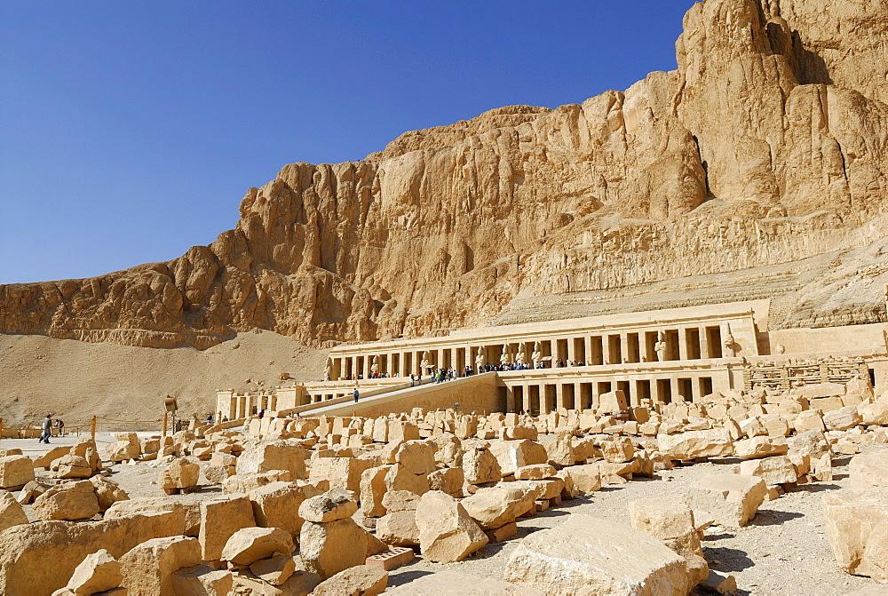 Temple of Hatshepsut, Western Thebes, Deir el-Bahari, Luxor, Nile Valley, Egypt, Africa
