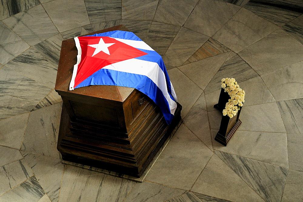 Tomb of the poet and Cuban national hero Jose Marti, Cementerio de Santa Ifigenia cemetary, Santiago de Cuba, Cuba, Caribbean