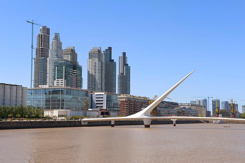 Puente de la Mujer, Womenís Bridge, Puerto Madero, Buenos Aires, Argentina, South America